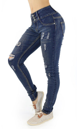 1039 Dear Body Women's Destroyed Skinny Jean