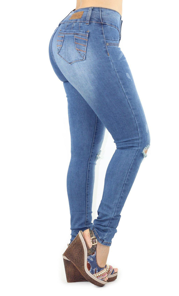 1054 Dear Body Women's Distressed Skinny Jean