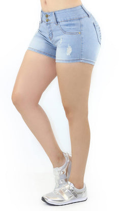 1057 Dear Body Women's Destroyed Denim Short