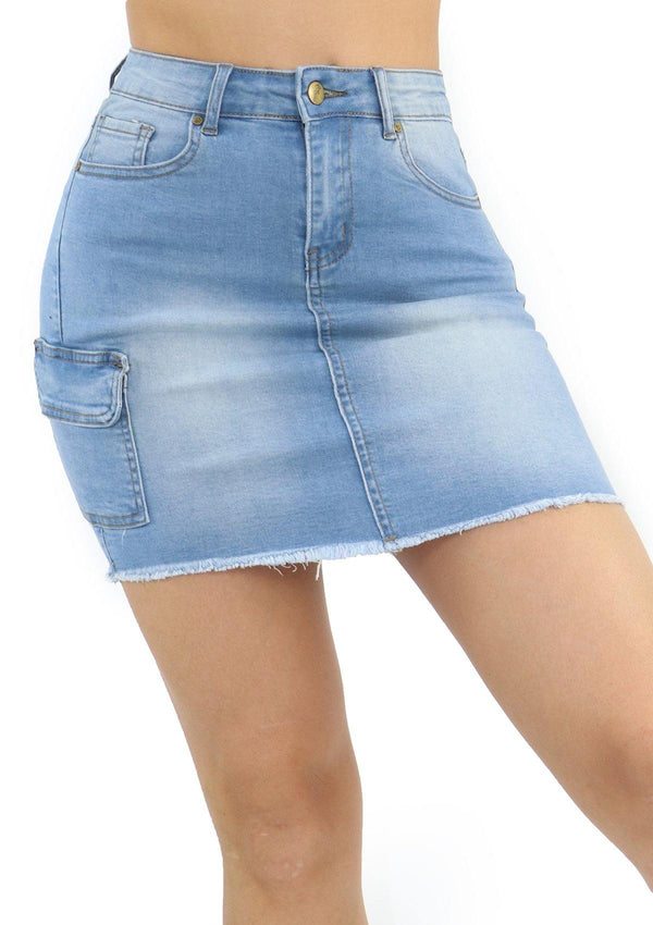 1237 Denim Skirt by Dear Body - Pompis Stores