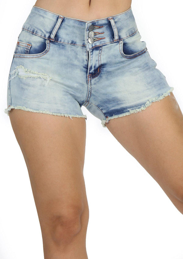 DBJ1247-Jeans-Short-Distressed-Denim-Front