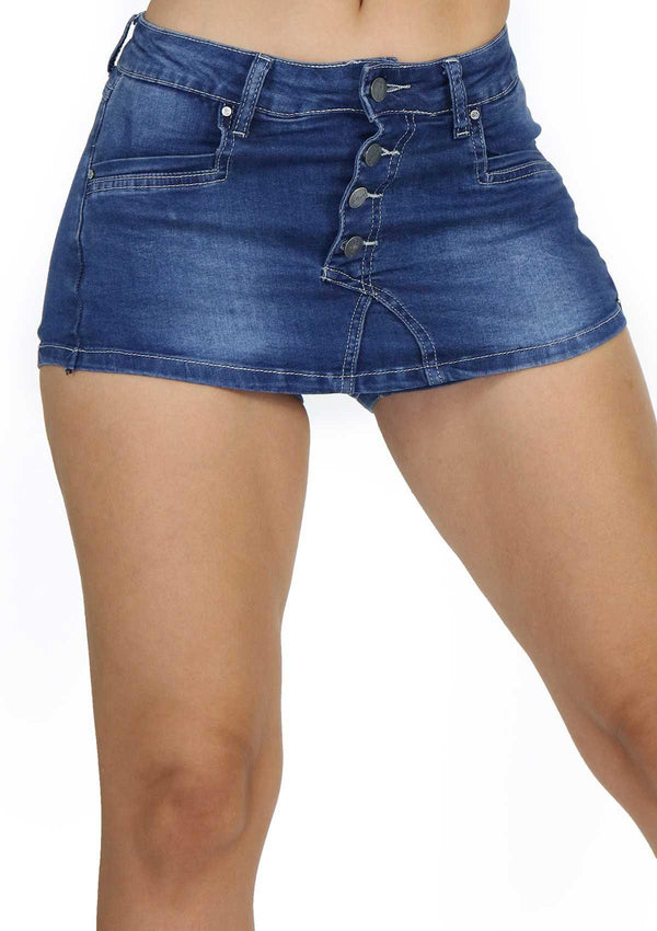 1257 Denim Short Skirt by Dear Body - Pompis Stores