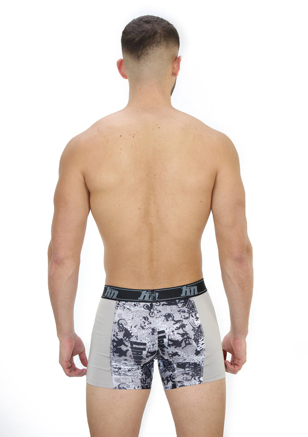 4059N Printed Boxer Brief Long Hybrid by HN