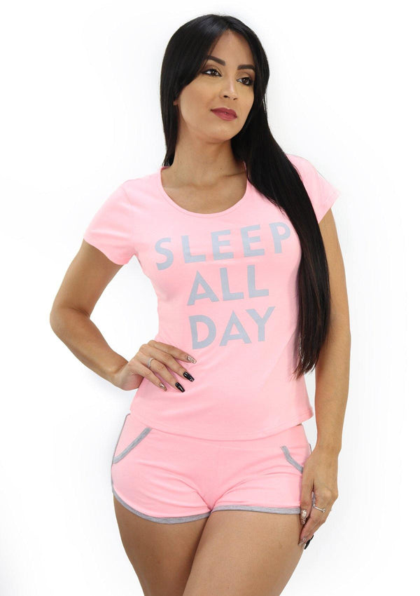 LMDF2054 Sleep All Day Pijamas Set De Mujer