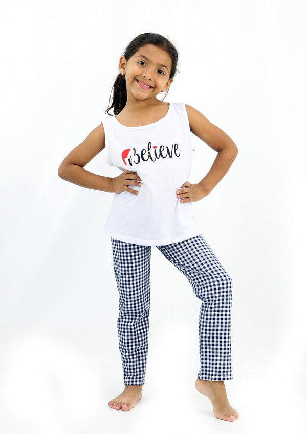 LMDF2083 Believe Pijamas Set De Niña