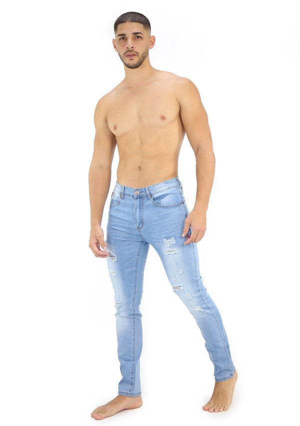 M4Y-1518 M4 Destroyed Slim Fit Jeans by Yadier Molina - Pompis Stores