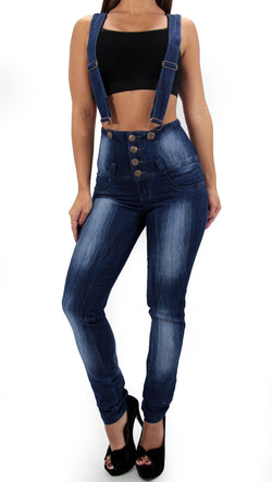 17408 Maripily Strap High Waist Skinny Jean - Pompis Stores