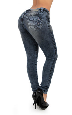 17454 Gray Acid Wash Maripily Skinny Jean