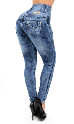 17485 Acid Wash High Waisted Maripily Skinny Jean