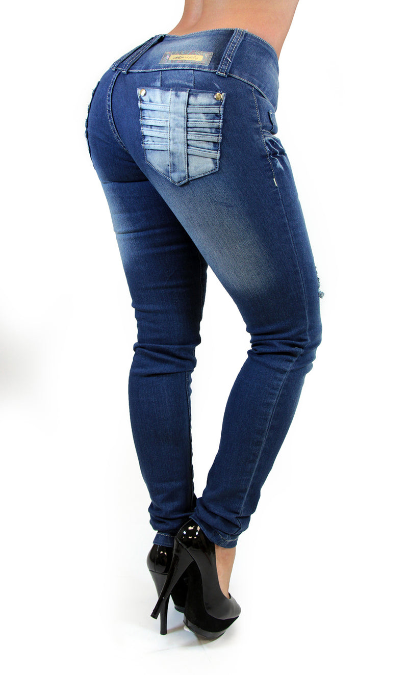17497 Triple Button Maripily Skinny Jean