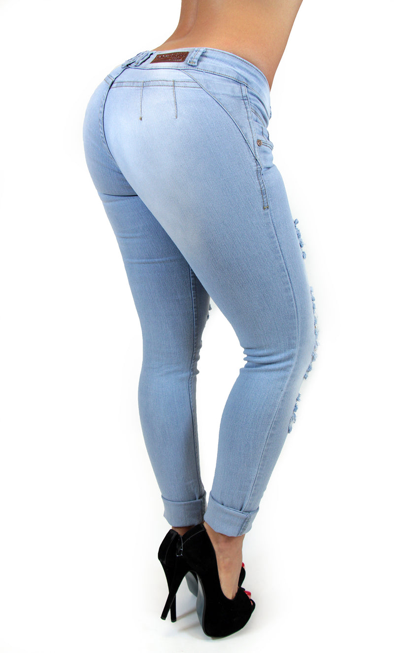 17539 Distressed Low Rise Maripily Skinny Jean