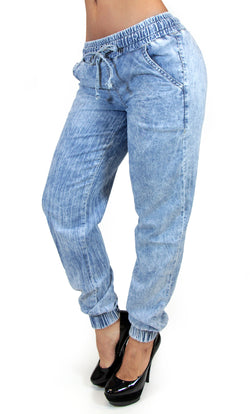 17548 Acid Wash Maripily Denim Jogger