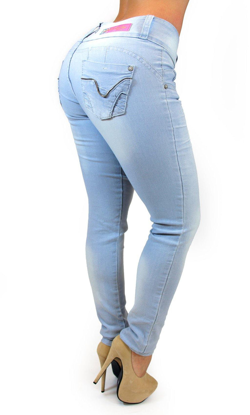 17587 Light Blue Maripily Skinny Jean
