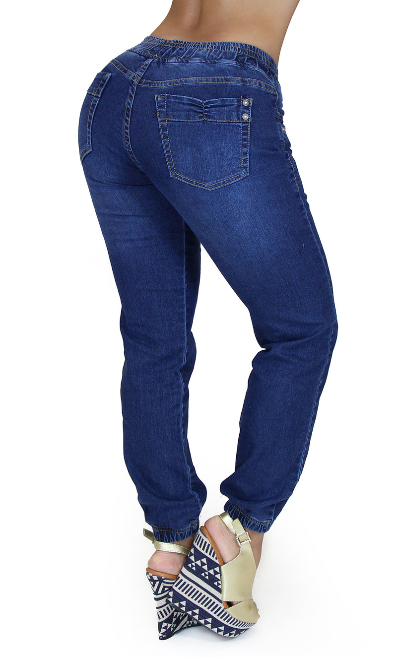 17739 Destroyed Denim Jogger Maripily Jean