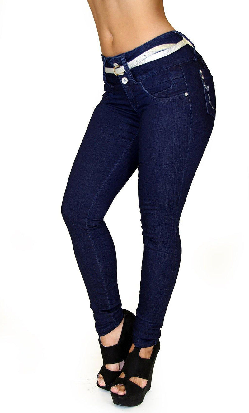 17774 Maripily Triple Button Skinny Jean