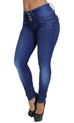 17776 Maripily Triple Button Skinny Jean