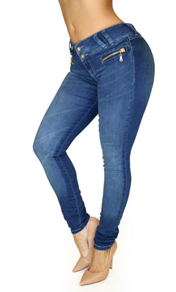 17838 Maripily Zippered Skinny Jean
