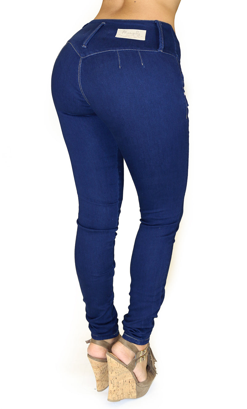 LAST ONE 17860 Maripily Triple Button Skinny Jean