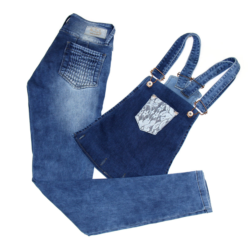 17864 Maripily Convertible Denim Overall