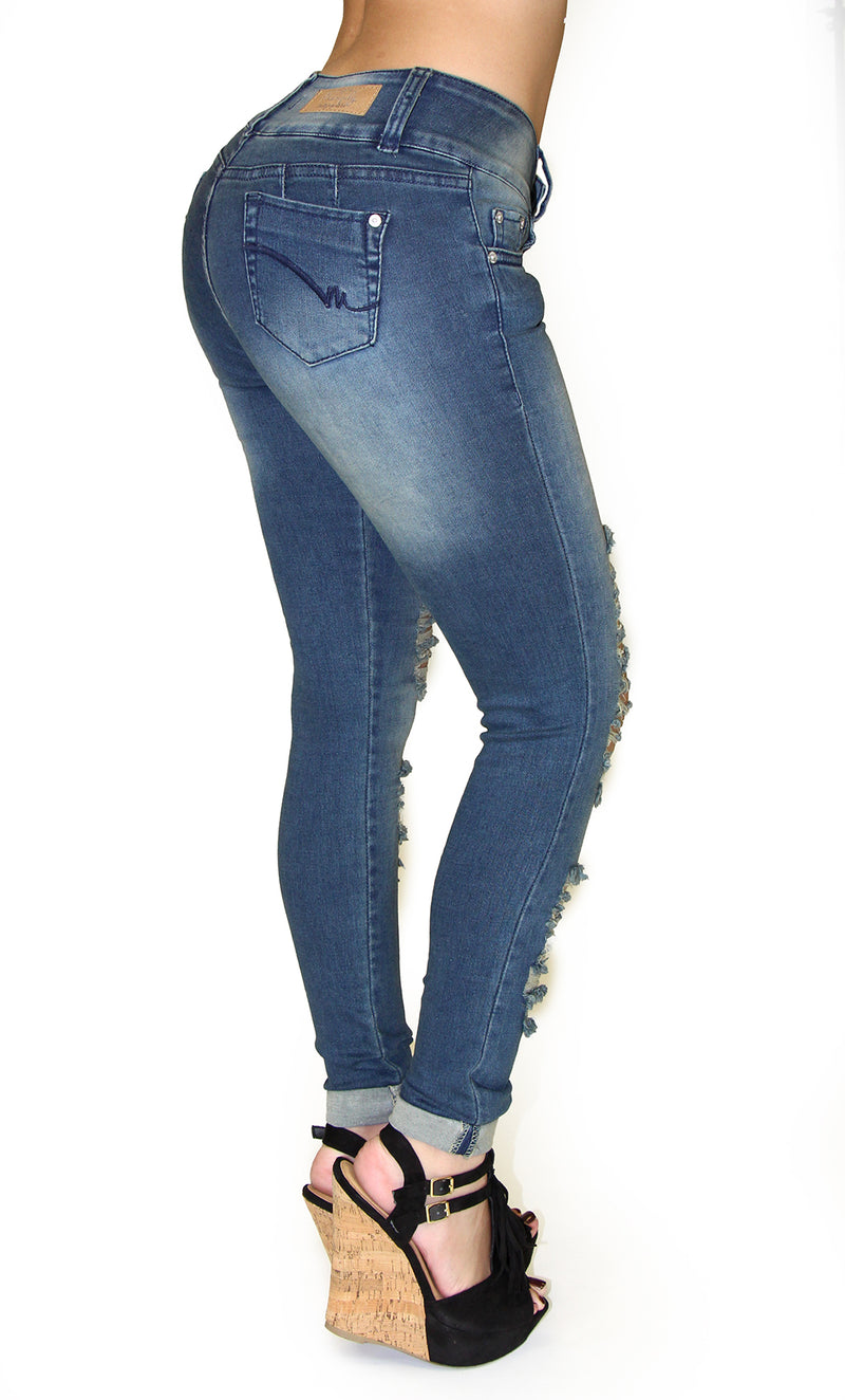 17874 Maripily Destroyed Skinny Jean