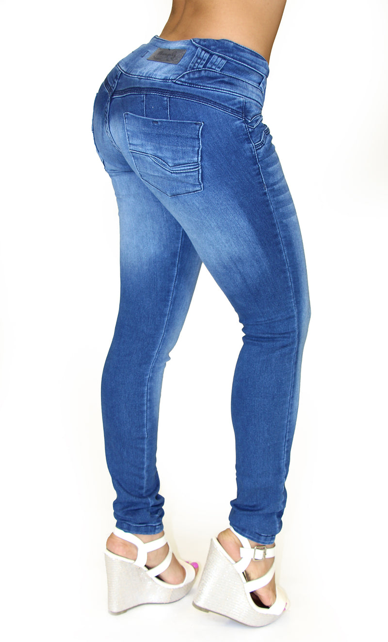 17887 Maripily Triple Button Skinny Jean