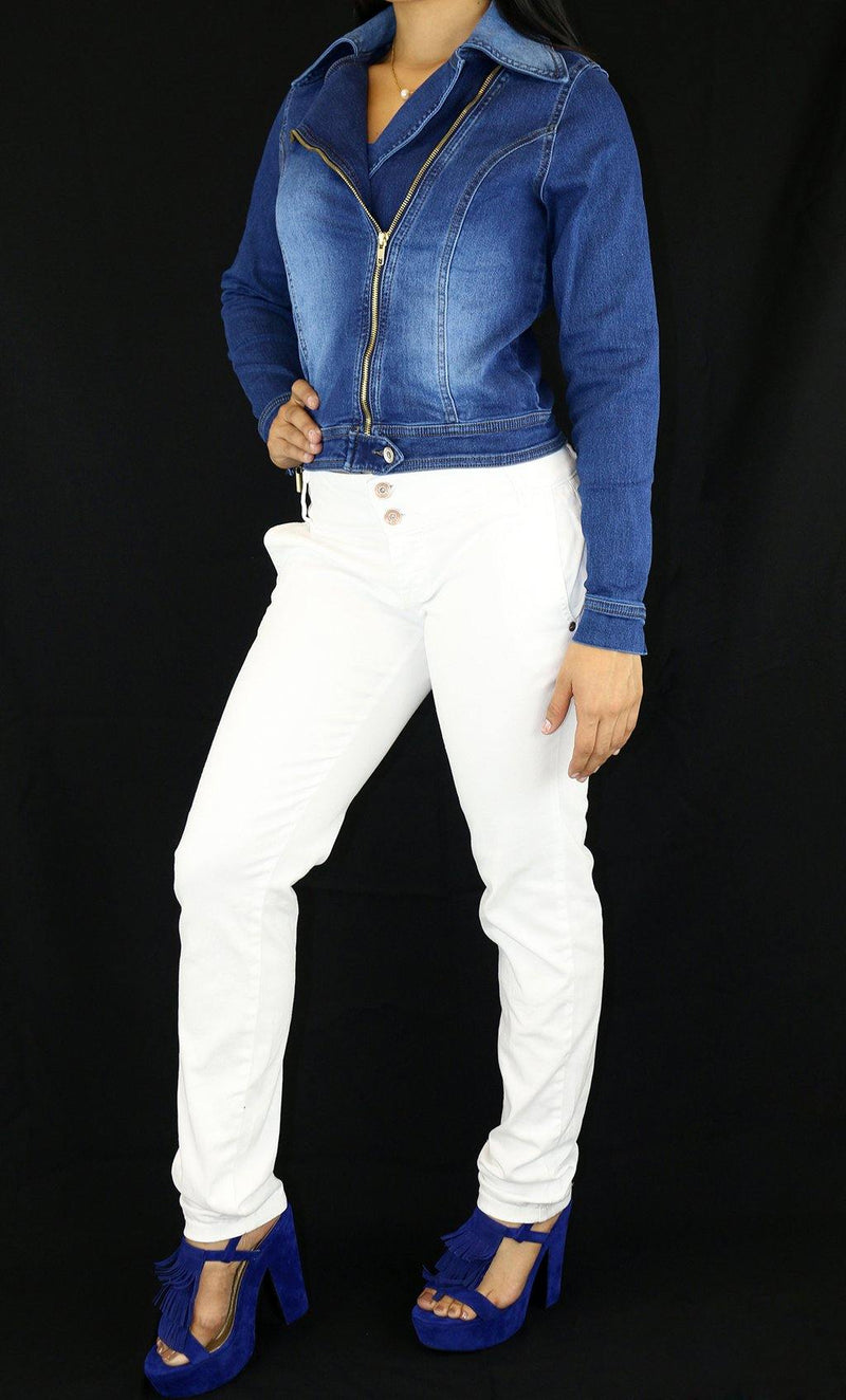 17928 Maripily Denim Jacket - Pompis Stores