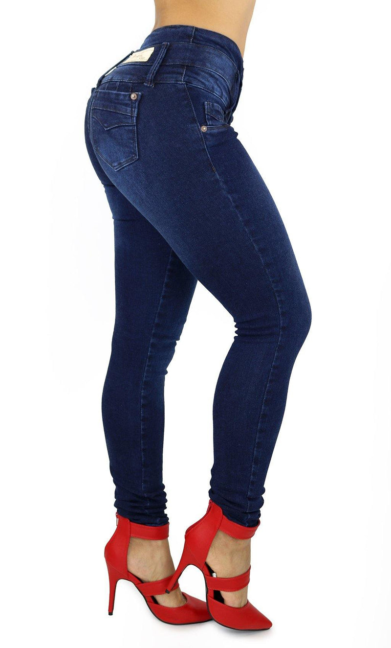 17966 Maripily High Rise Tummy Control Butt Lifting Skinny Jean