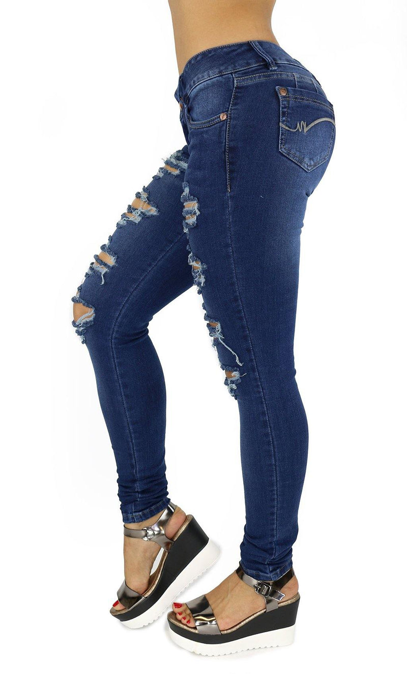 17982 Maripily Destroyed Women Butt Lifting Skinny Jean