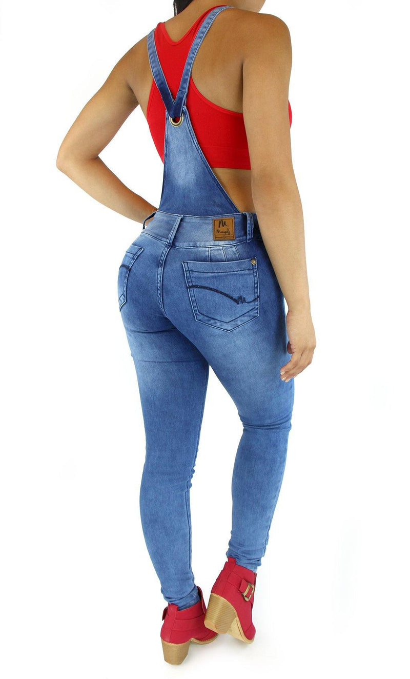 18004 Maripily Women Overall Butt Lifting Skinny Jean - Pompis Stores