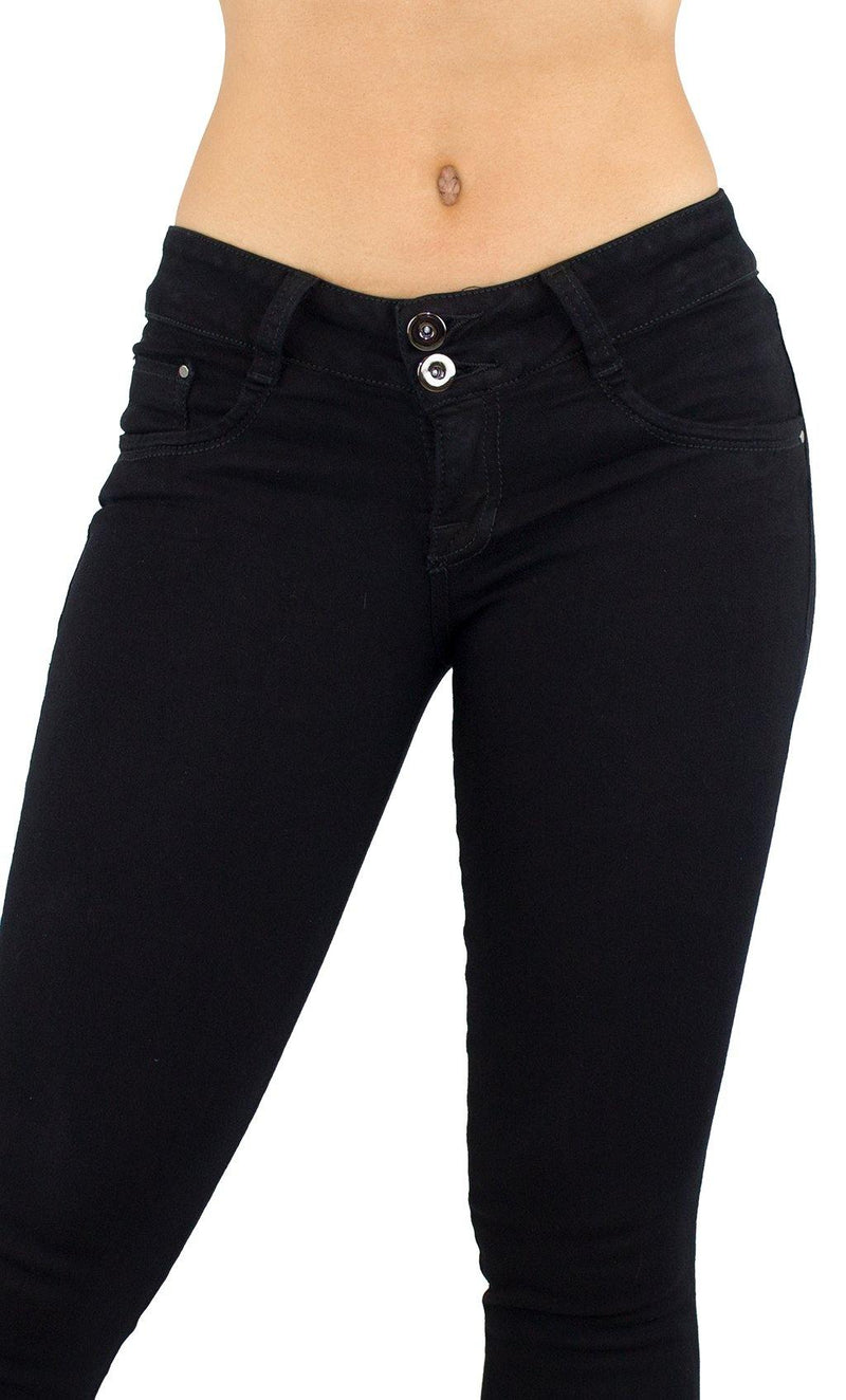 18014 Maripily Black Women Butt Lifting Skinny Jean