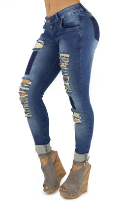 18165 Maripily Women's Destroyed Skinny Jean