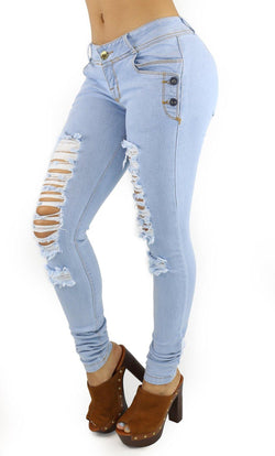 18167 Maripily Women's Destroyed Skinny Jean