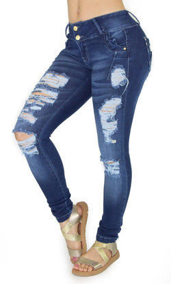 18441 Maripily Women's Distressed Skinny Jean