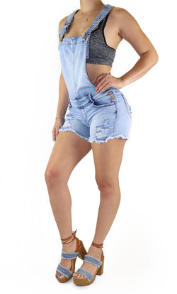 18944 Denim Short Romper Maripily Rivera