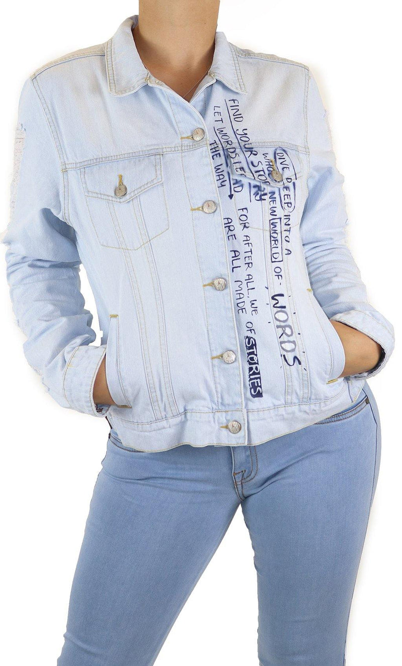 18946 Women Denim Jacket by Maripily Rivera