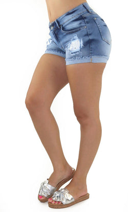 19003N Denim Short Women Maripily Rivera