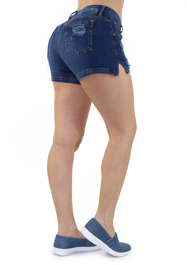 19252 Denim Short by Maripily Rivera