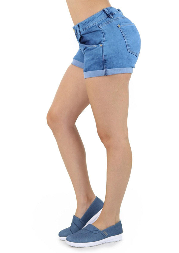 19254 Denim Short by Maripily Rivera