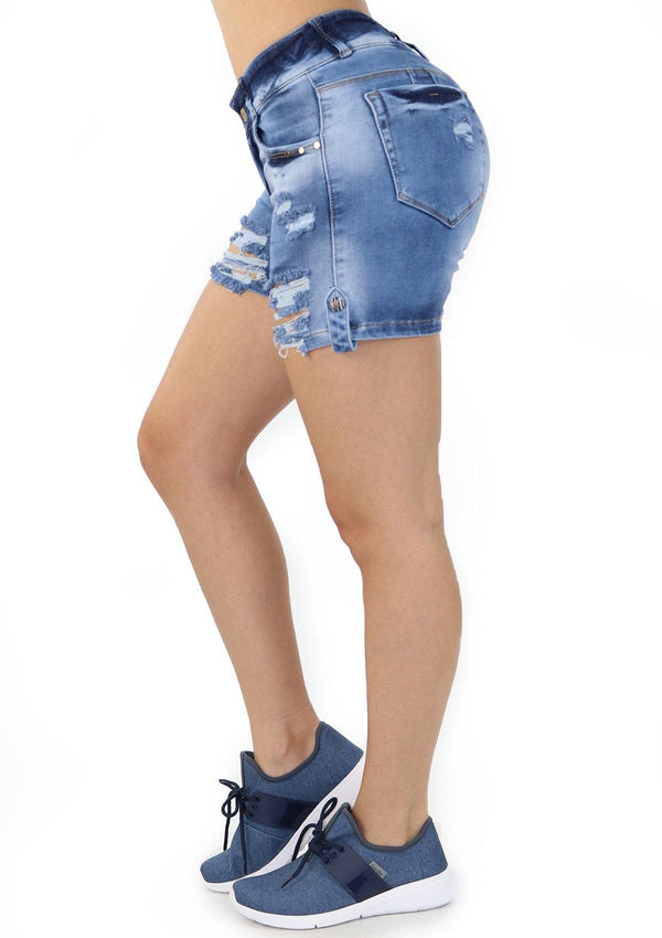 19261 Denim Short by Maripily Rivera