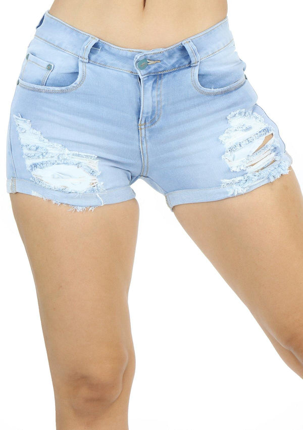 19798 Denim Short by Maripily Rivera - Pompis Stores