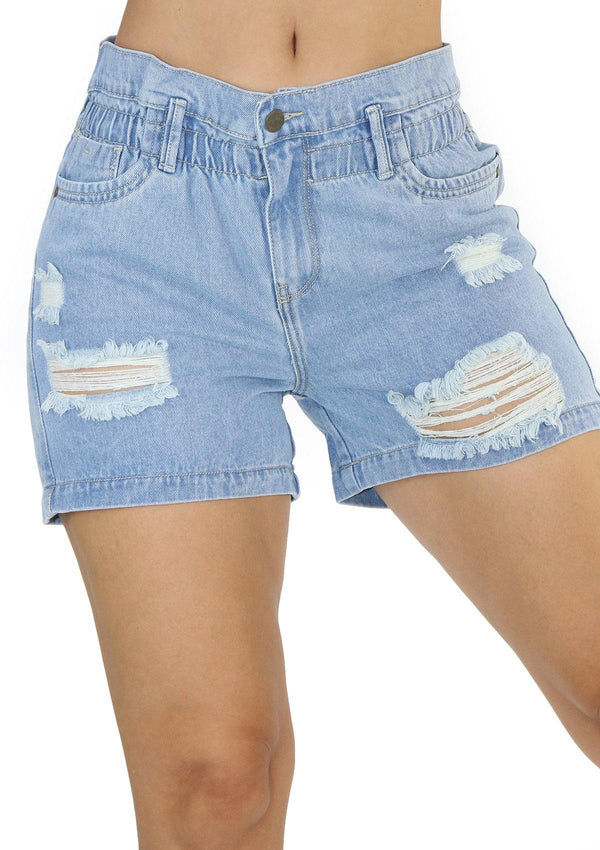 19818 Denim Short by Maripily Rivera - Pompis Stores