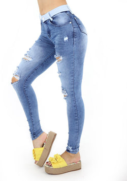 19867 Destroyed Skinny Jean by Maripily Rivera (Curvy Low)