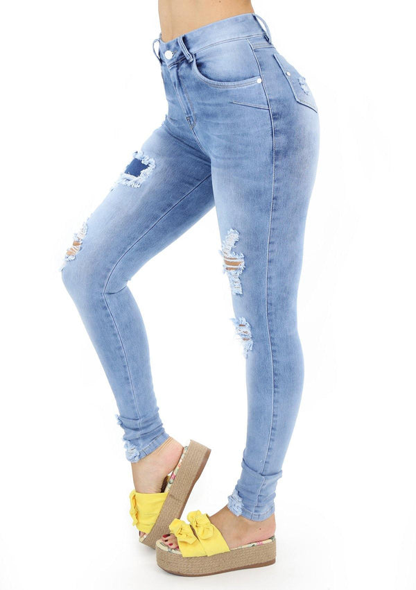 19878 Destroyed Skinny Jean by Maripily Rivera (Curvy Medium)