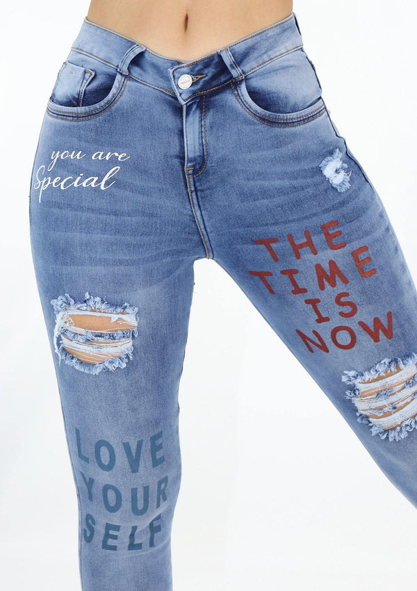19900 You Are Special Destroyed Skinny Jean by Maripily Rivera - Pompis Stores
