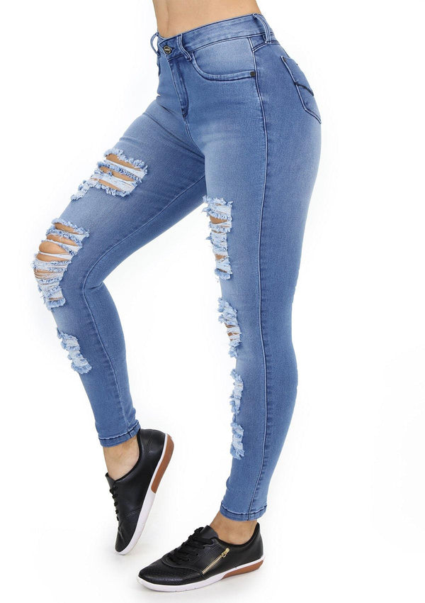 19902 Destroyed Skinny Jean by Maripily Rivera (Tobillero) - Pompis Stores