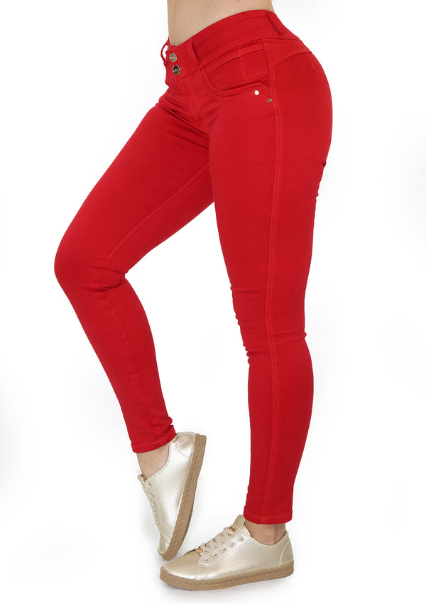 19915 Red Skinny Jean by Maripily Rivera