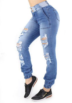 19918 Destroyed Skinny Jean by Maripily Rivera (Jogger) - Pompis Stores