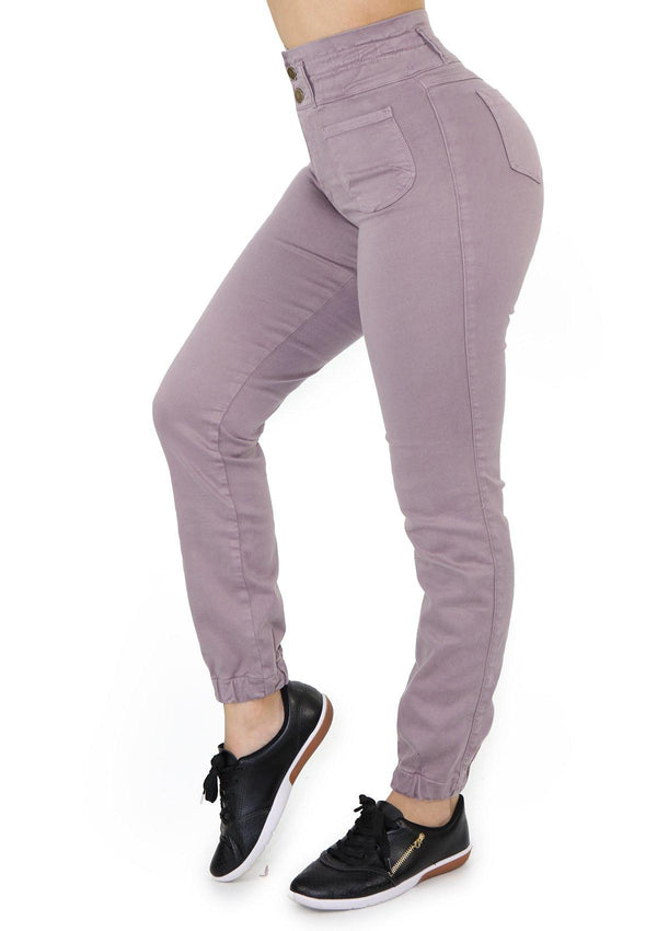 19926 Mauve Skinny Jean by Maripily Rivera (Jogger) - Pompis Stores