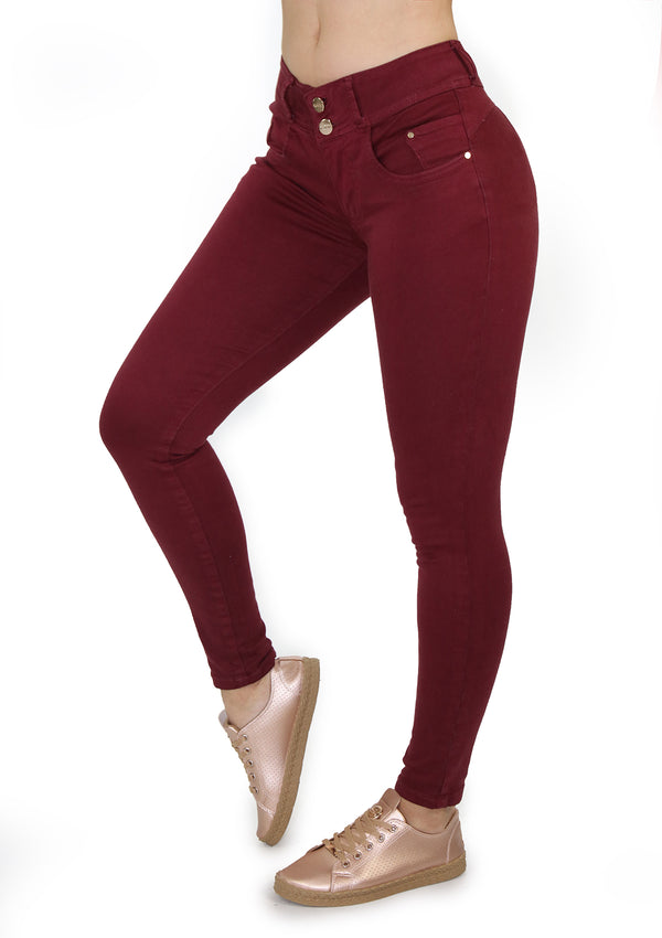 19942 Wine Skinny Jean by Maripily Rivera