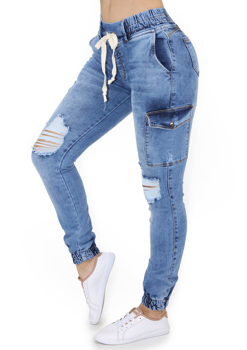 19966 Jogger Jean By Maripily Rivera Cargo Pompis Stores